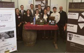 La mini-entreprise Korko de l' IUT, championne régionale à Toulouse./ Photo DDM
