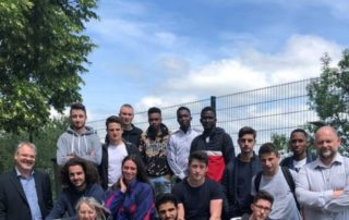 Apprentis et responsables du lycée Monteil de Rodez./ Photos DDM, MCB
