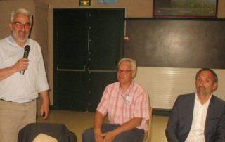 De gauche à droite : Hugues du Pradel, Didier Roques (IUT Brive) et Laurent Bertaud (Directeur Fives Machining).