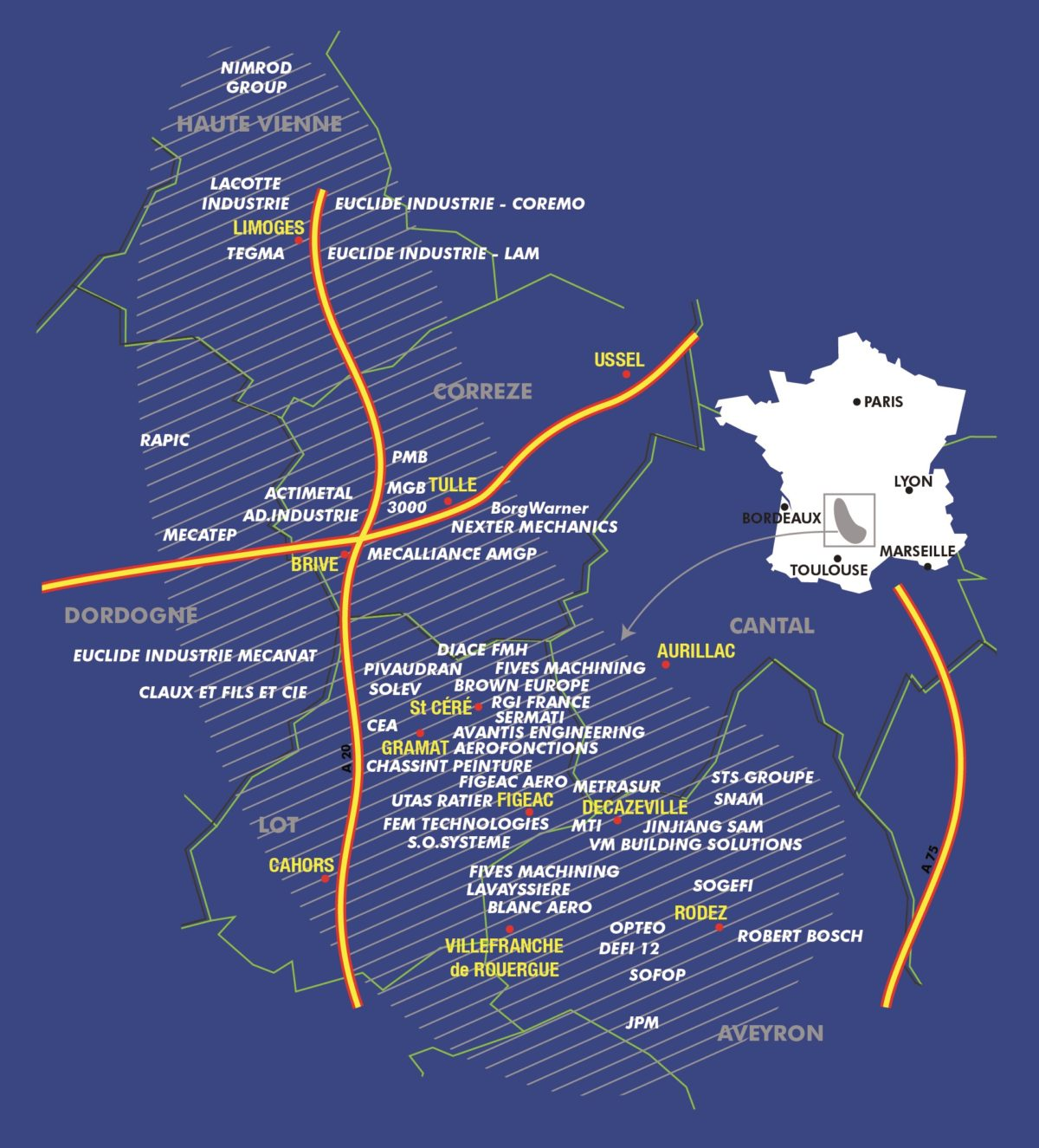 Implantation géographique de Mecanic Vallée