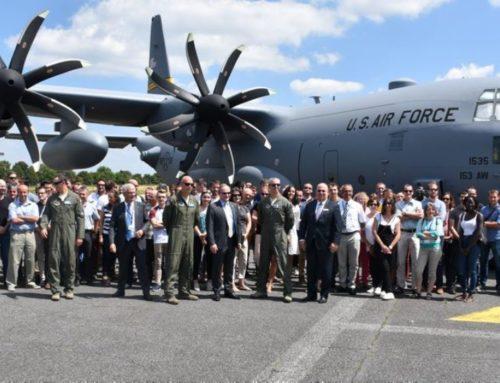 Les salariés de Ratier sur le C-130 H de l'armée américaine