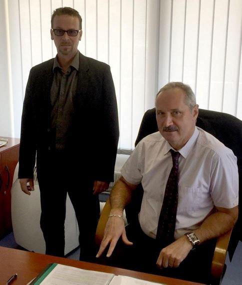 Le proviseur Jean-Luc Viargues (à droite) et son adjoint Olivier Cagnotis, aux commandes du lycée polyvalent.