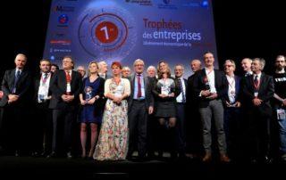 Les lauréats de la première édition des Trophées des entreprises. © stephane Lefèvre