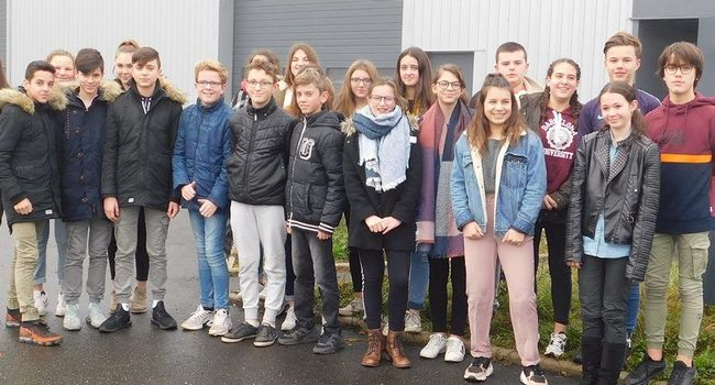 Les élèves de 4e du collège Saint-Louis