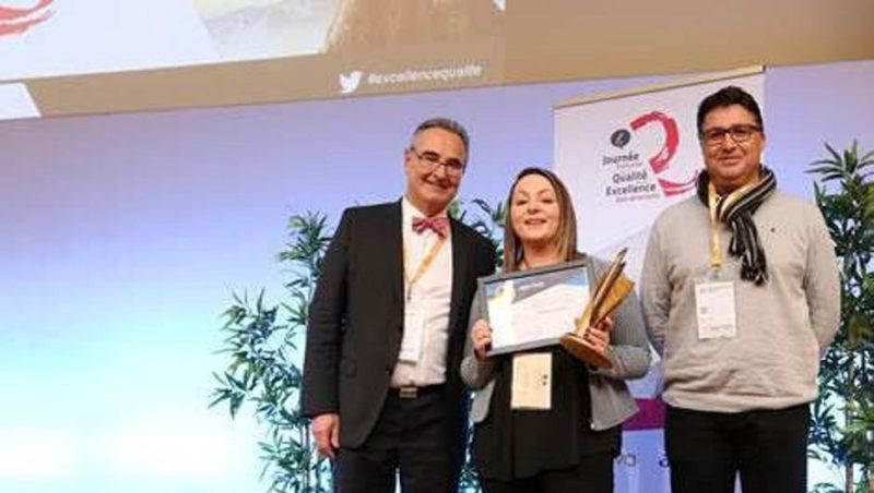 Maëlys Gleize a été récompensée pour son travail au sein du laboratoire départemental de la Lozère./ DR