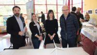 Sébastien Oziol (Ad'Occ), Cindy Derail (Macéo), Pauline Choinet (Decazeville communauté) et François Marty (Decazeville et Decazeville communauté) / Photo DDM, BHSP.