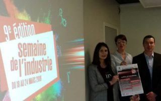 La présentation de la Semaine avait lieu vendredi à la CCI du Lot en présence de Séverine Creux, Julie Jammes-Duchesne et de Pierre Massabeau. / Photo DDM, J-M. F.