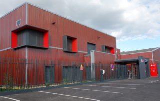La nouvelle façade de l'entreprise Thiot Ingenierie à Puybrun.