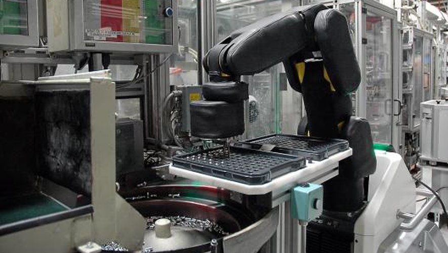 En France, l'équipement en robots industriels, ici à Bosch, est relativement faible. Photo J.B.