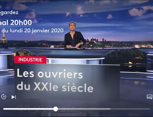Reportage sur les ouvriers du XXIe siècle chez Ratier-Figeac et CMQ Industrie du Futur au JT 20H de France 2 – Lundi 20 Janvier 2020