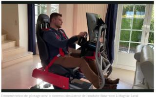 Démonstration de piotage avec le nouveau simulateur de conduite Simersion à Magnac Laval