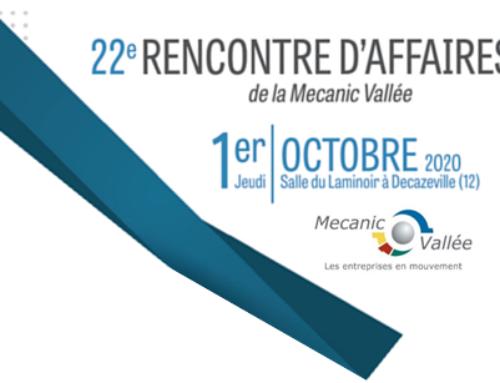 22e Rencontre d'affaires de la Mecanic Vallée à Decazeville le Jeudi 1er Octobre 2020